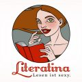 Character Design Logo CI Lesen is sexy Literatina Portrait Buch
