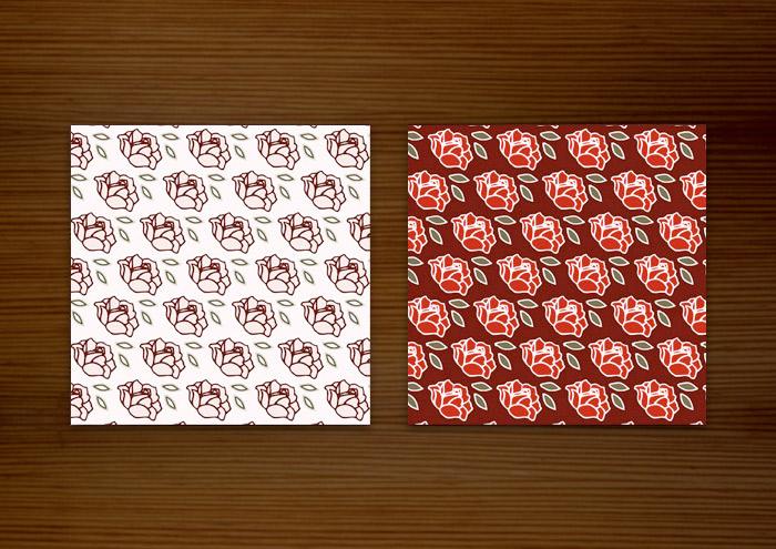 Rosenmuster für Stoffe, Tüten, Tapeten und Hintergründe von Pearlie Mae für Label Suite