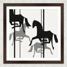 Kunstdruck Pferdchen