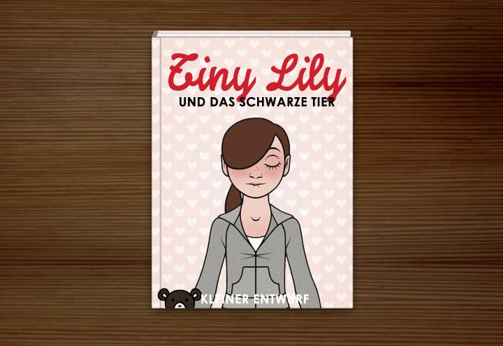Entwurf für das Buch Tiny Lily und das schwarze Tier