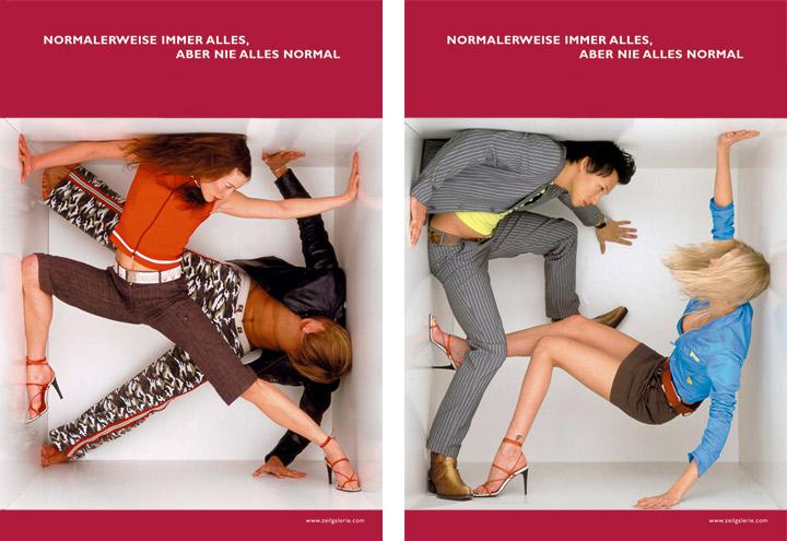 Styling im Military und Ausgeh Look für Werbeplakate für die Zeilgalerie und ihre Modeläden in Frankfurt