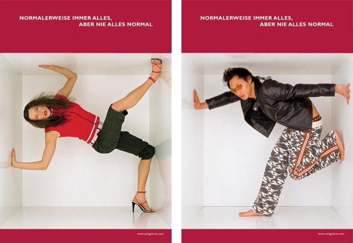 Styling im Military Look für Werbeplakate für die Zeilgalerie und ihre Modeläden in Frankfurt