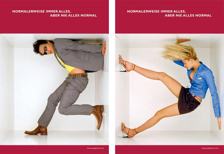 Styling im Ausgeh Look für Werbeplakate für die Zeilgalerie und ihre Modeläden in Frankfurt