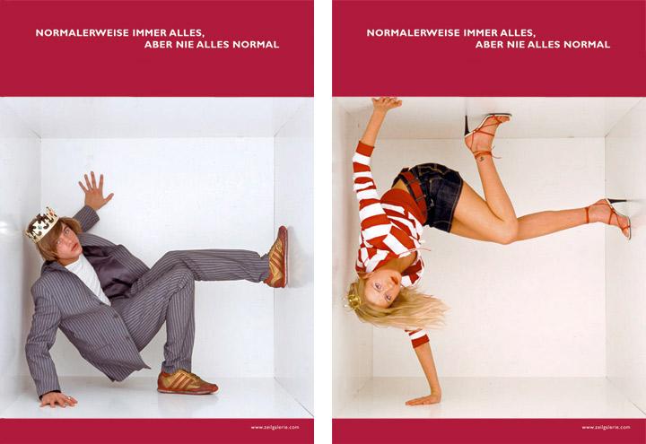 Styling im Casual Style für Werbeplakate für die Zeilgalerie und ihre Modeläden in Frankfurt