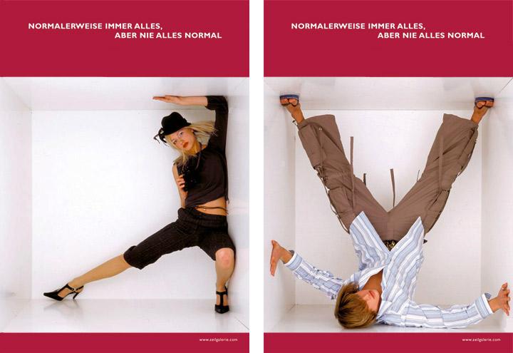 Styling im Jägerin und Beachboy Look für Werbeplakate für die Zeilgalerie und ihre Modeläden in Frankfurt