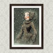 Kunstdruck Winterwunder