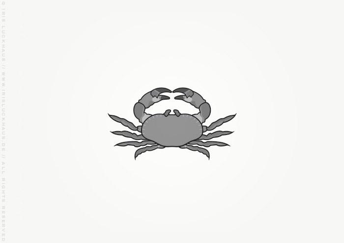 Vignette mit einer Krabbe zur Illustration des Jugendbuchs Lillesang von Nina Blazon