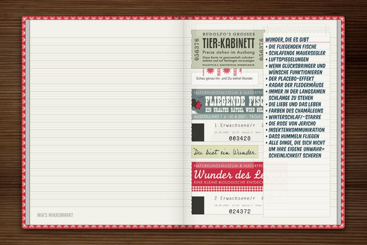 Sammelalbum für Eintrittskarten von Museen und Ausstellungen im Lily Lux Notizbuch