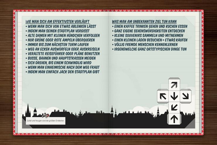 Anleitung zum Verlaufen und Entdecken von Heimat- und andern Städten im Lily Lux Notizbuch