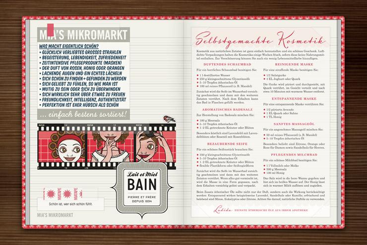 Sammelalbum für Schönheitsrezepte und Kosmetik mit Diastreifen, Fotos und Etiketten im Buch Lily Lux Notizbuch