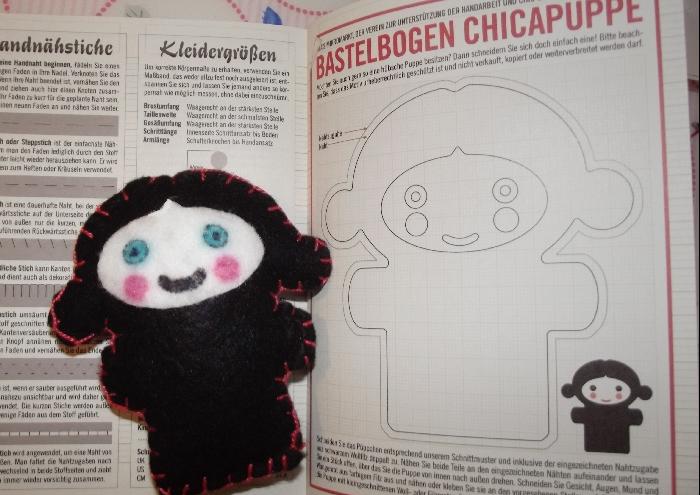 Selbstgenähte Lily Lux Chic Chica Puppe von Mel