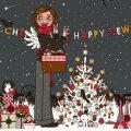Lily Lux beim Schmücken des Weihnachtsbaums