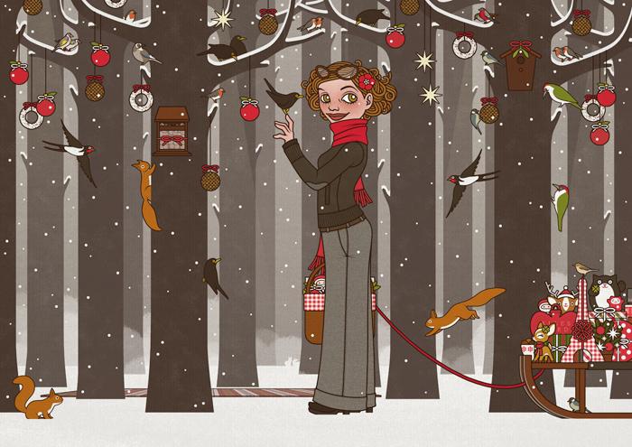 Lily Lux im Winterwald