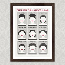 Kunstdruck Frisuren