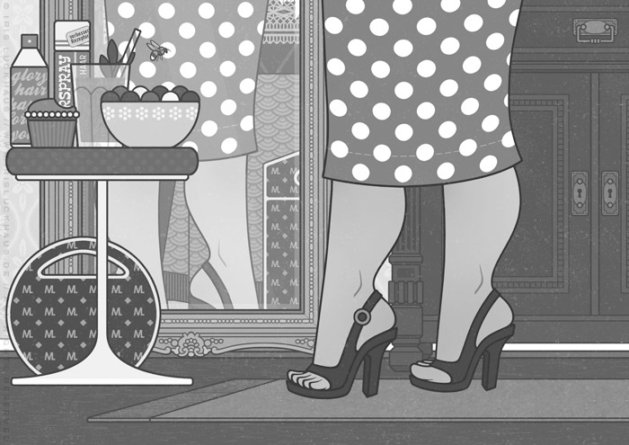 Illustration von Mimi Fiedlers selbstbewusster Mutter Marija für die Balkantherapie