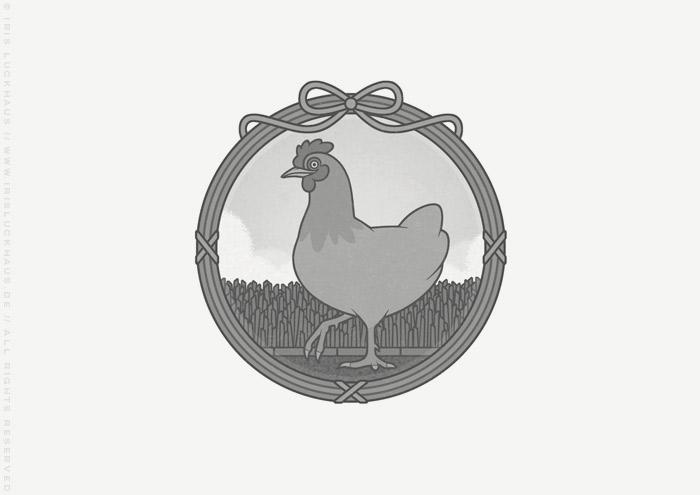 Vignette Huhn Lieschen für Die Balkantherapie von Mimi Fiedler