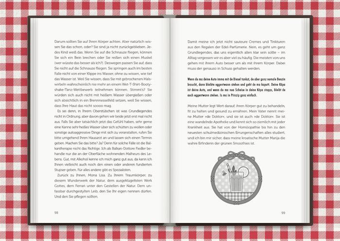 Vignette von Mimi Fiedlers Grünem Smoothie, für das Buch Balkantherapie für Liebe, Leib und Seele von Mimi Fiedler