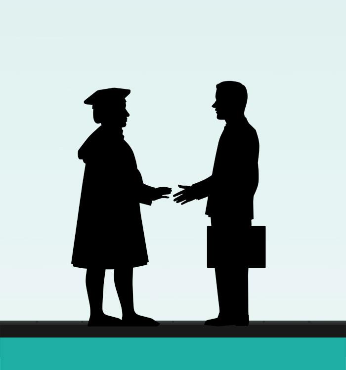 Handschütteln für die Masterarbeit Der Ehrbare Unternehmensberater von J. A. Riemenschneider