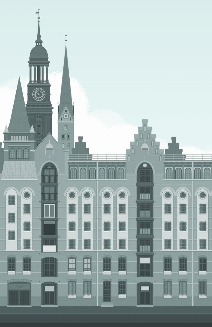 Hamburger Speicherstadt für die Masterarbeit Der Ehrbare Unternehmensberater von J. A. Riemenschneider