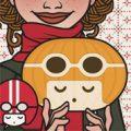 Lily Lux Passbild mit Kürbismädchen