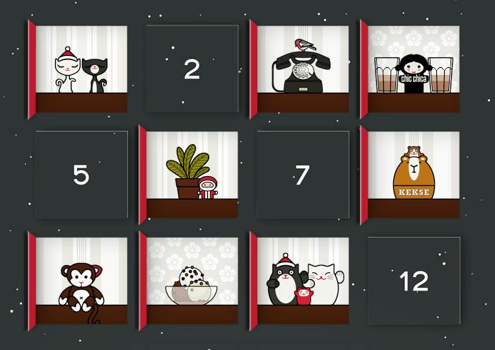 Lily Lux Bastelvorlage für Adventskalender zum Selberbasteln mit kleinen Bildchen aus der wunderbaren Welt
