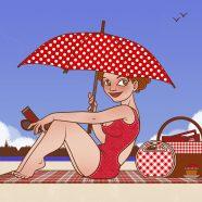 Freie Arbeiten | Lola am Strand