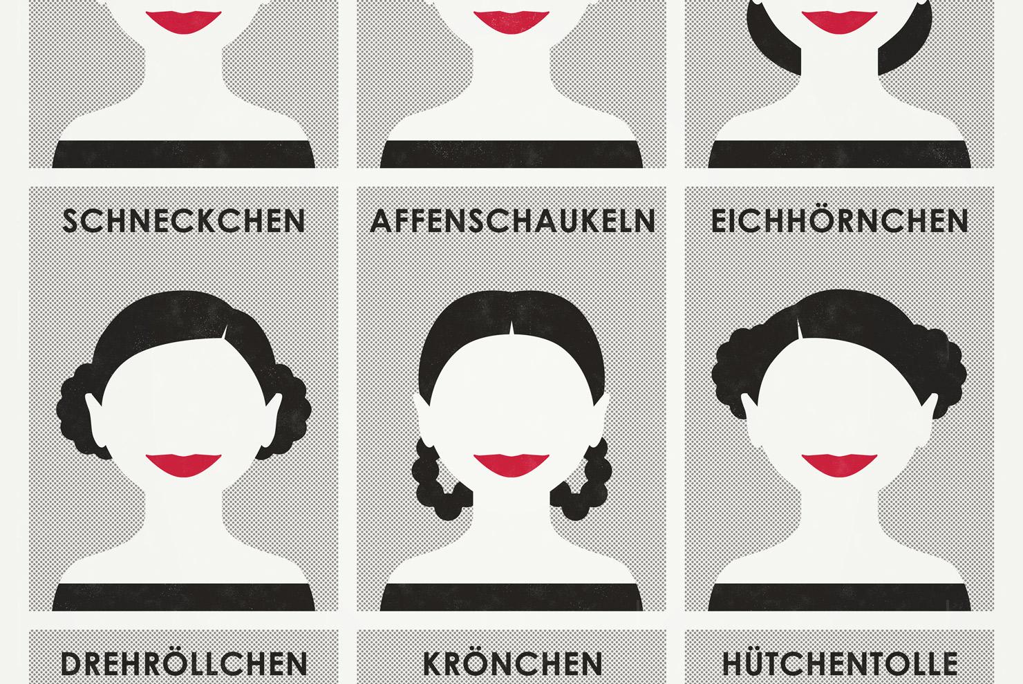 Ausschnitt aus der Infografik zu den schönsten Frisuren für langes Haar, Flechtfrisuren und Hochsteckfrisuren