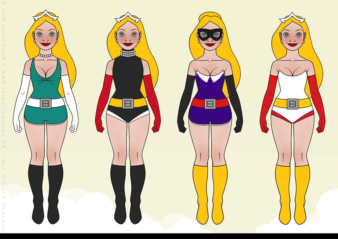 Styling für Superheldin Barbararella für Barbara Magazin