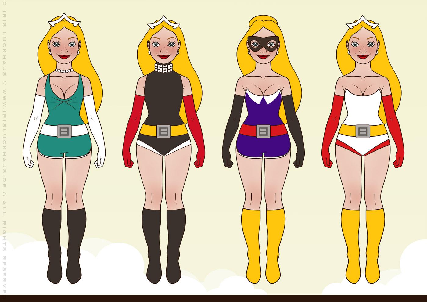 Styling für Superheldin Barbararella für Barbara Magazin von Iris Luckhaus