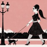 Art Print | Amy and May in Retro-Paris