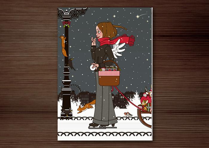 Lily Lux Weihnachtskarte