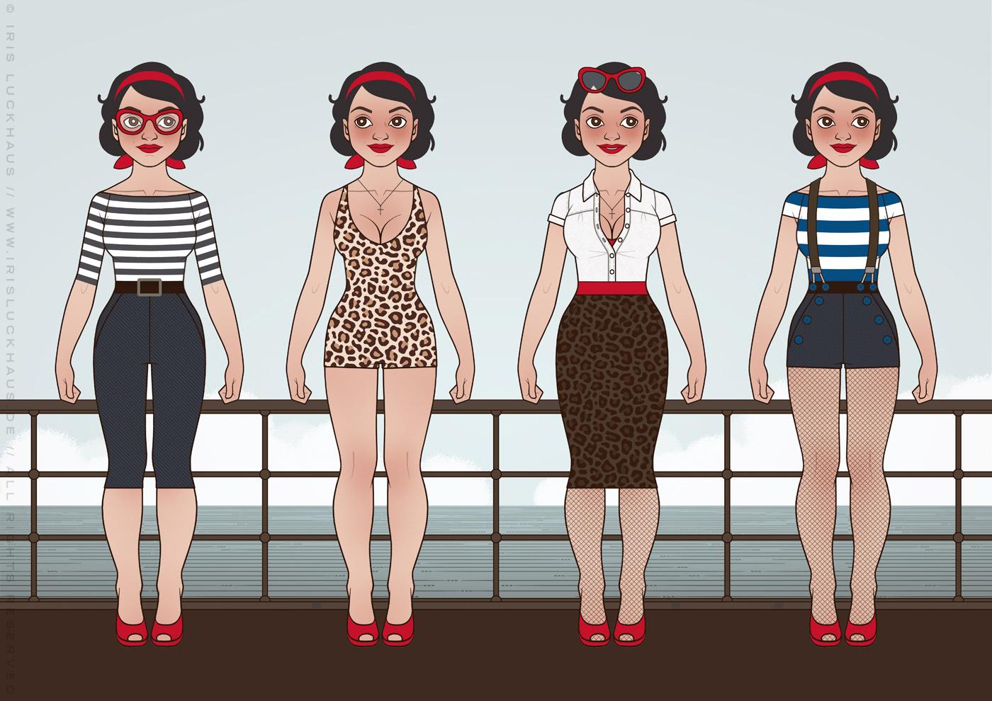 Character Design und Styling für Mimi Fiedler im Buch Balkantherapie von Iris Luckhaus