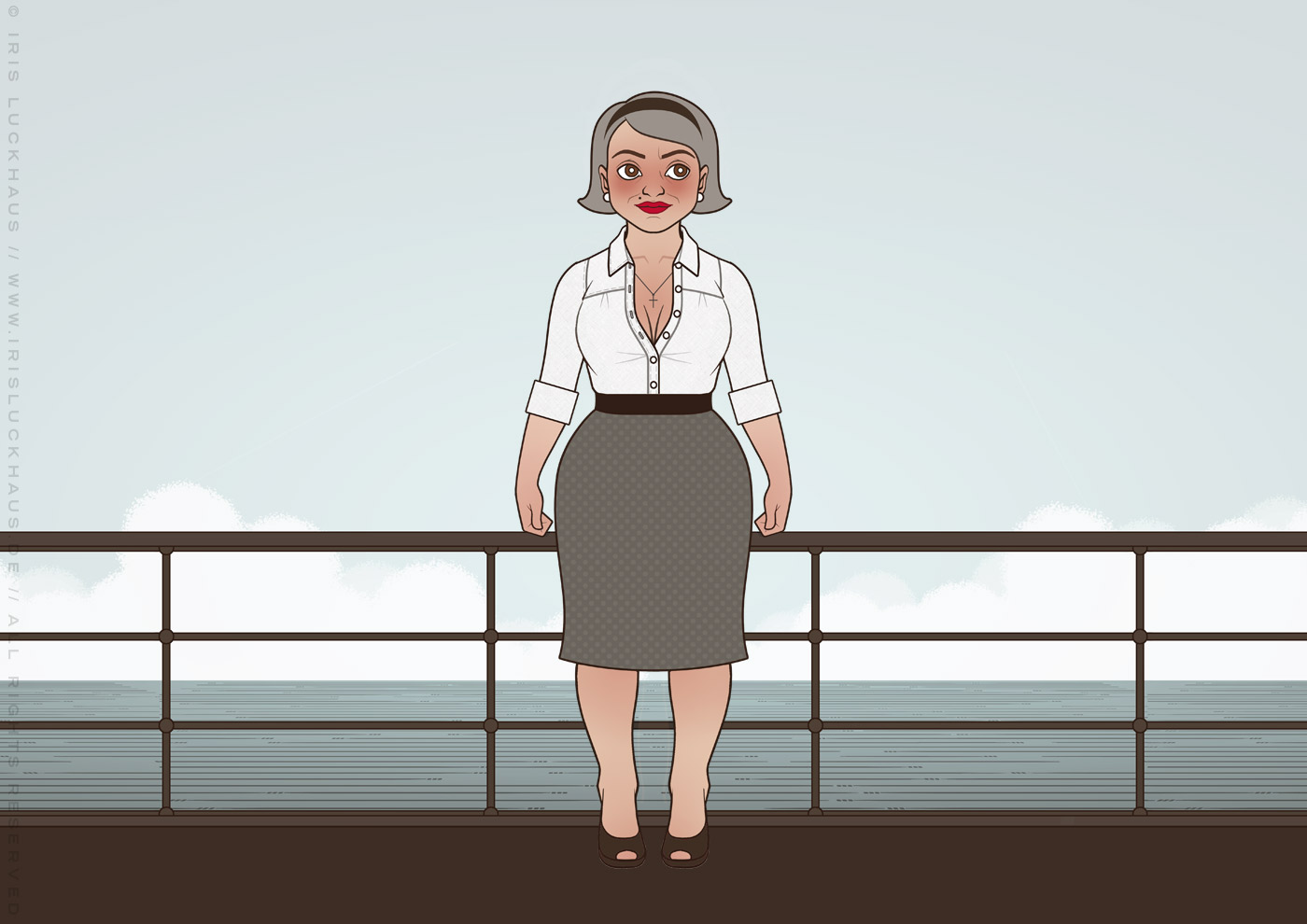 Character Design und Styling für Mimi Fiedlers Mutter Marija im Buch Balkantherapie