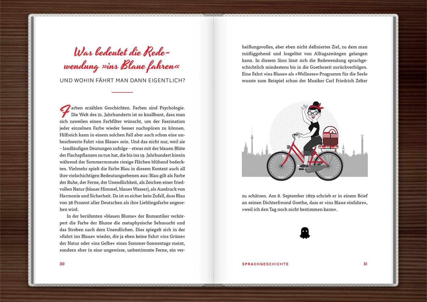 Du hast das Wort, Schätzchen! 100 charmante Geschichten rund um die Sprache im Duden Verlag von Rita Mielke mit Illustrationen im Sixties-Stil von Iris Luckhaus
