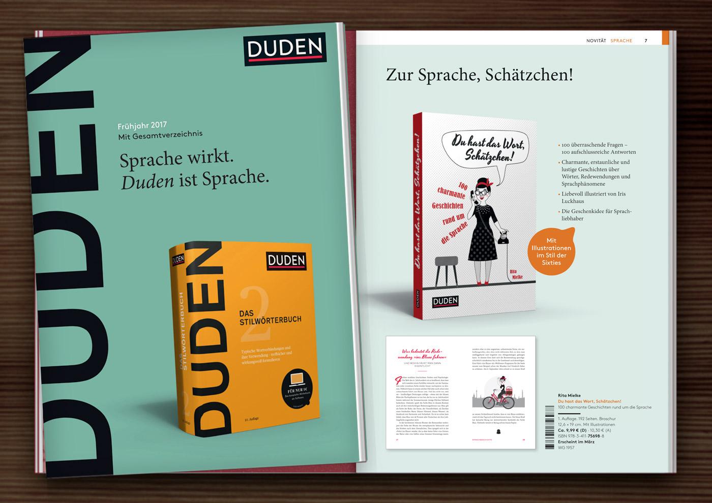 Vorschau für Du hast das Wort, Schätzchen! 100 charmante Geschichten rund um die Sprache im Duden Verlag