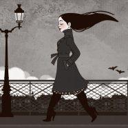 Kunstdruck | Vampirmädchen Carmilla