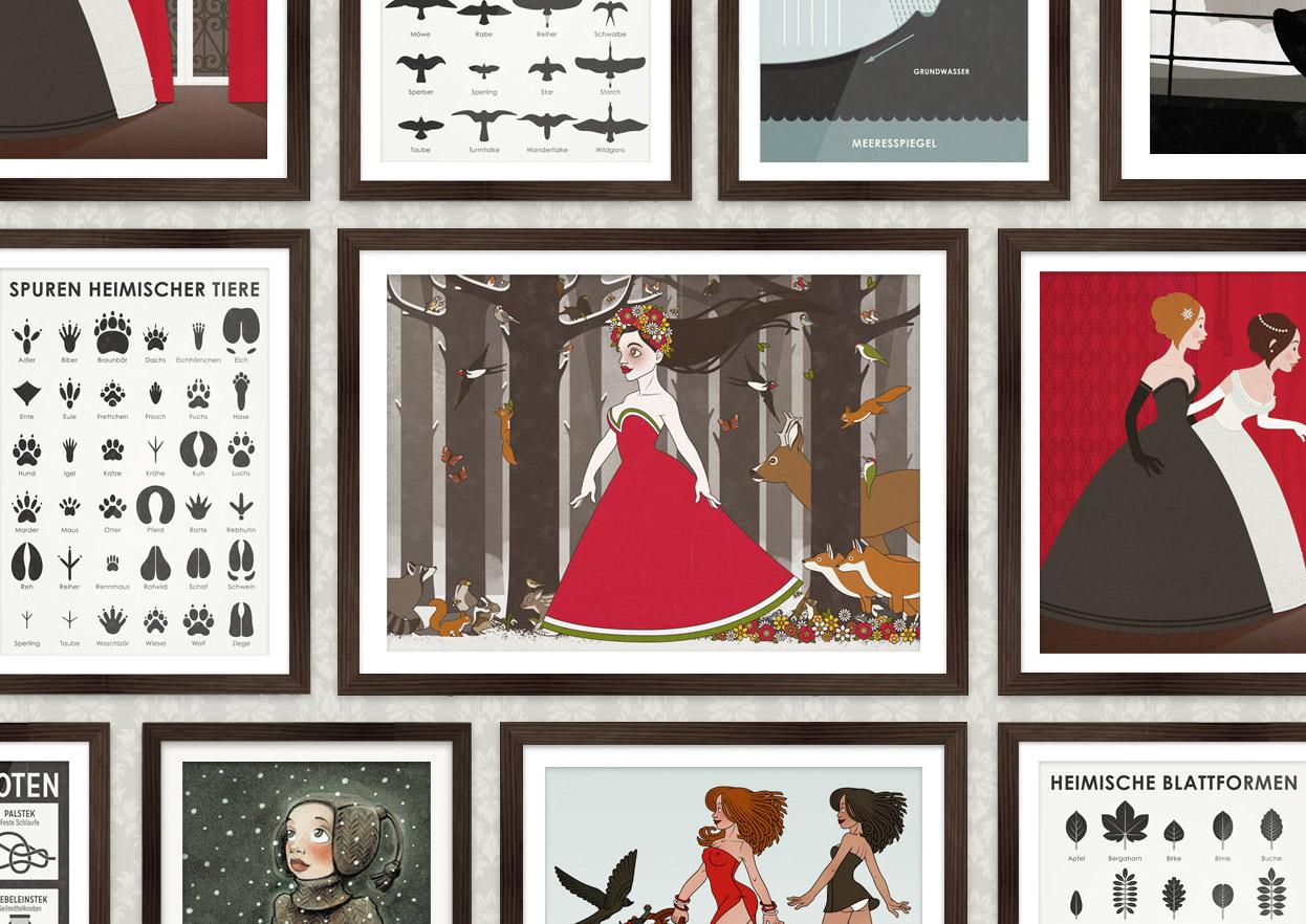 Posterserien von Iris Luckhaus bei der Posterlounge