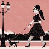 Kunstdruck   Amy und May in Retro-Paris