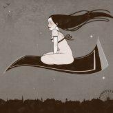 Kunstdruck   Märchen mit fliegendem Teppich