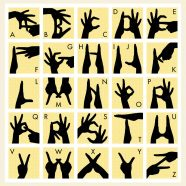 Tlwo-handed Finger Alphabet for Eltern Family