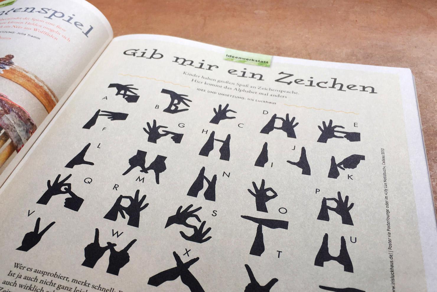 Fingeralphabet von Iris Luckhaus im Eltern Family Magazin