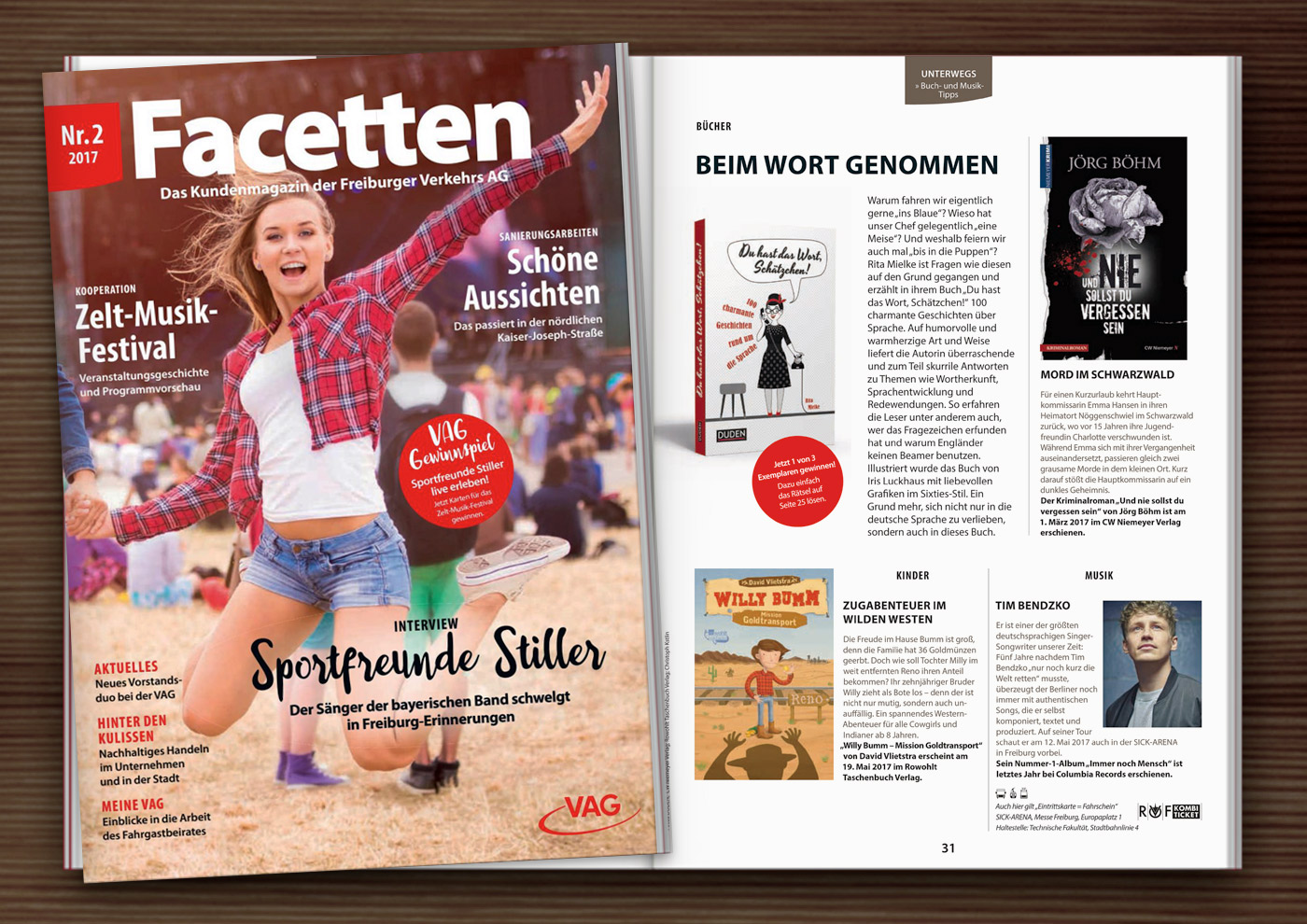 Wortschätzchen im VAG Facetten Magazin