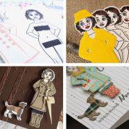 Die ersten Bastelkarten mit DIY-Anziehpuppe Gerti