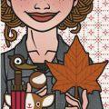 Lily Lux Passbild mit Herbstlaub