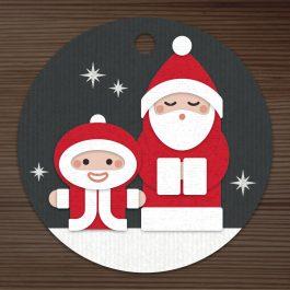 Weihnachtsmänner Stanzen und Stempel