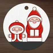 Santa Card Crafting Set of Dies and Stamps