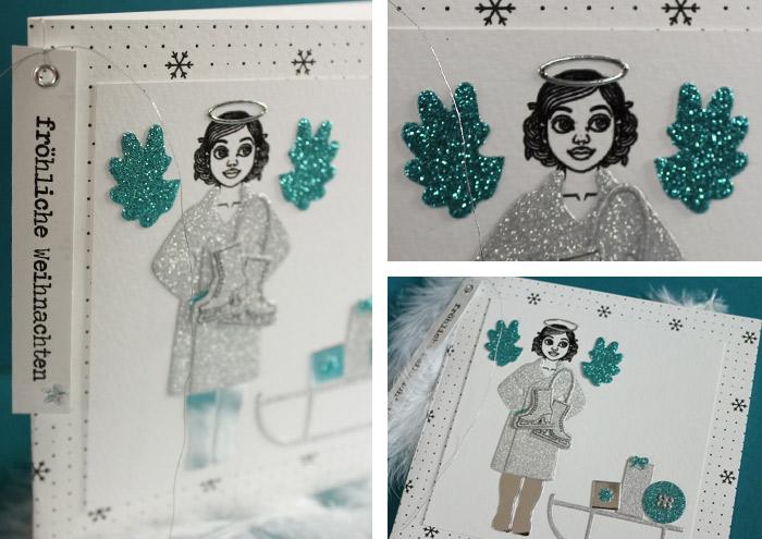 """DIY-Anziehpuppe """"Gerti feiert Weihnachten"""" für den Winter"""