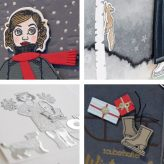 Amazing Winter cards crafted with dressup doll Gerti