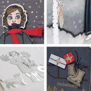 Die schönsten Bastelkarten mit Winter-Gerti
