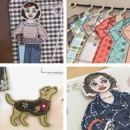 Mehr Bastelkarten mit DIY-Anziehpuppe Gerti